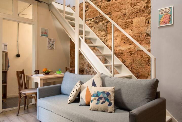 Charming Lebanese style loft studio in Mar Mkhael