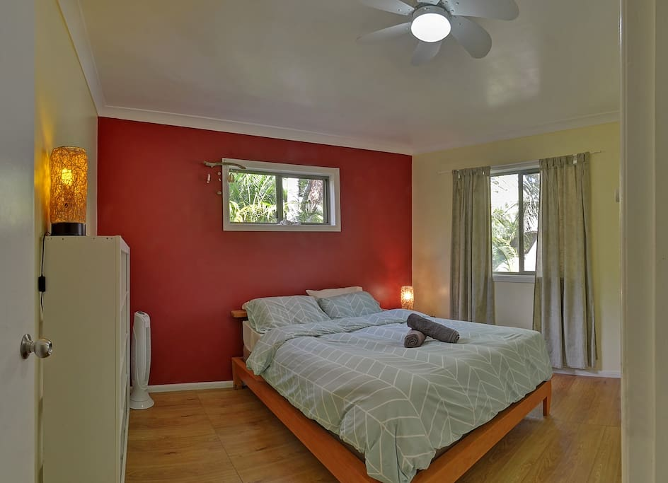 This Room has been changed to a higher class position and looks and feel even better than this one ! (photos coming) This is your room ... room#3, equiped with fan and large storage facilities