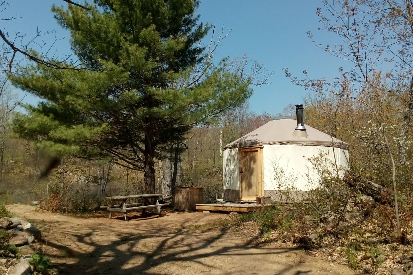 Campsite, mid-May 2017.