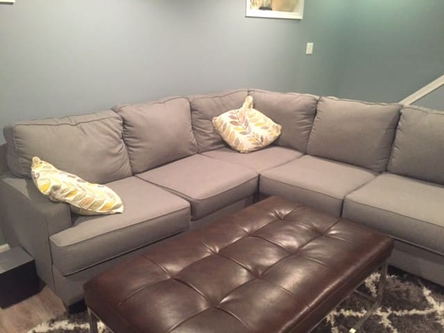 Living room (couch could sleep 1 and room for air mattress)