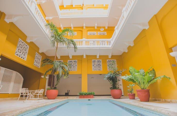 Inside- pool for all residents