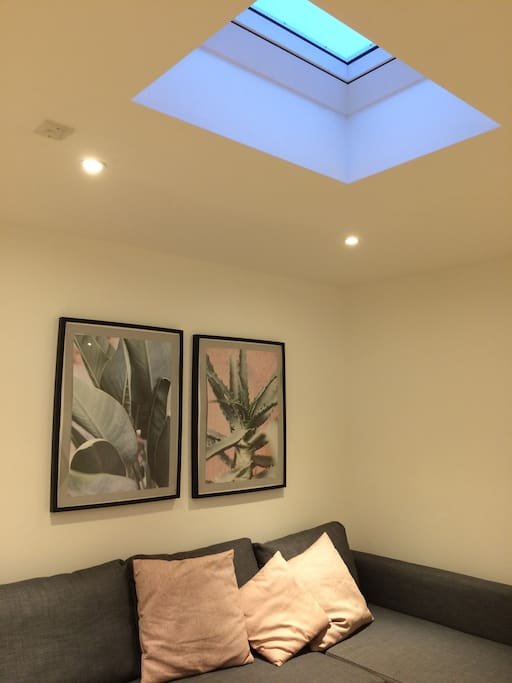 Skylight in living room and bedroom