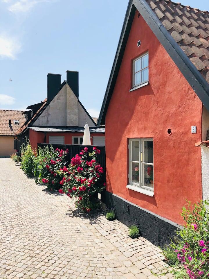 Hus på fantastiska Klinten i Visby