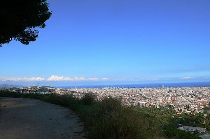 "Running on ""carretera de les Aigües, Collserola"" access next home"