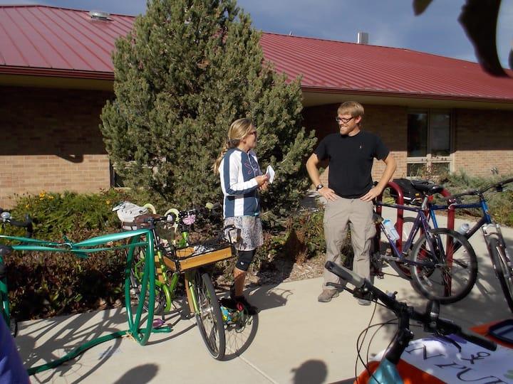 Art/bike rack dedication celebration