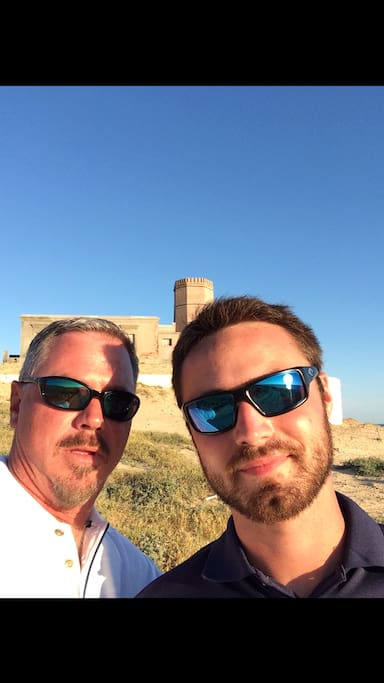 """We are ready to tee it up again, but first a shot in front of the """"Old Lighthouse"""" - El Faro Viejo!"""