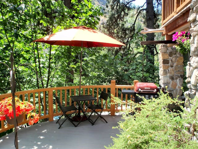 The private deck off the suite includes a barbecue grill for your convenience.