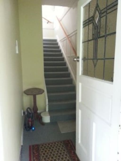 entrance way with stairs to upstairs flat