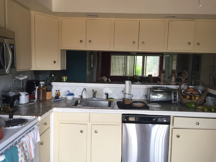 Spacious kitchen with dish washer and garbage disposal