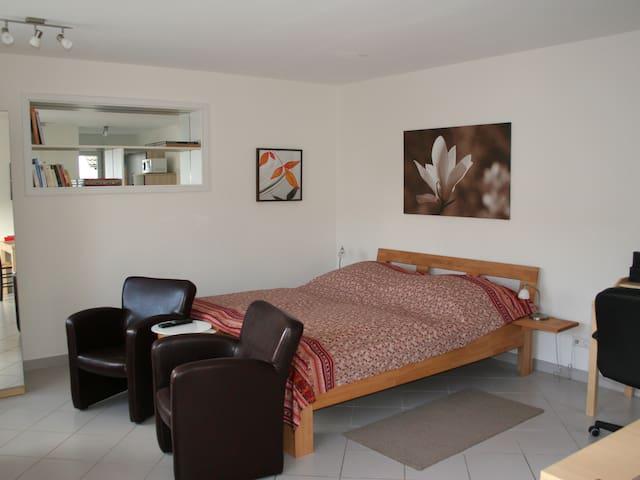Ferienwohnungen Familie Schwarze, (Grenzach-Wyhlen), Ferienwohnung 1, 32qm, 1 Wohn-/Schlafzimmer, max. 2 Personen
