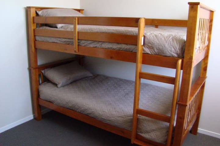 Quality bunk beds with a roller bed available (ideal for children)