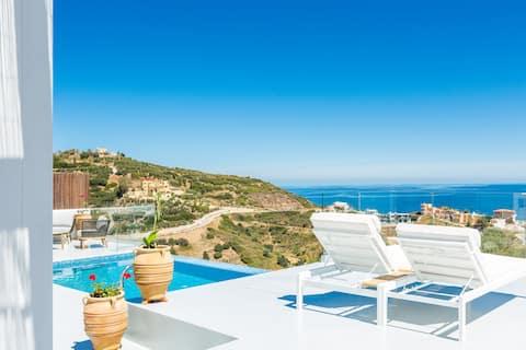 Lili Villa - Panoramablick aufs Meer, in der Nähe von Stränden