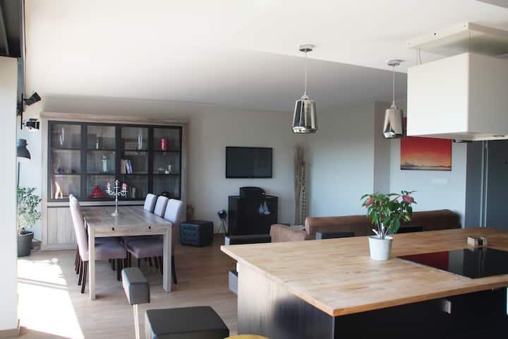 Liège: Superbe appartement vue sur Meuse