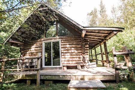 Log Chalet in an Old Forest Setting, Mike's Cabin