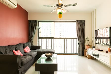 Balcony view and cosy room Outram Park MRT - Apartment