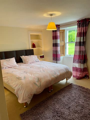 Super king bedroom down stairs has own en-suite with large shower