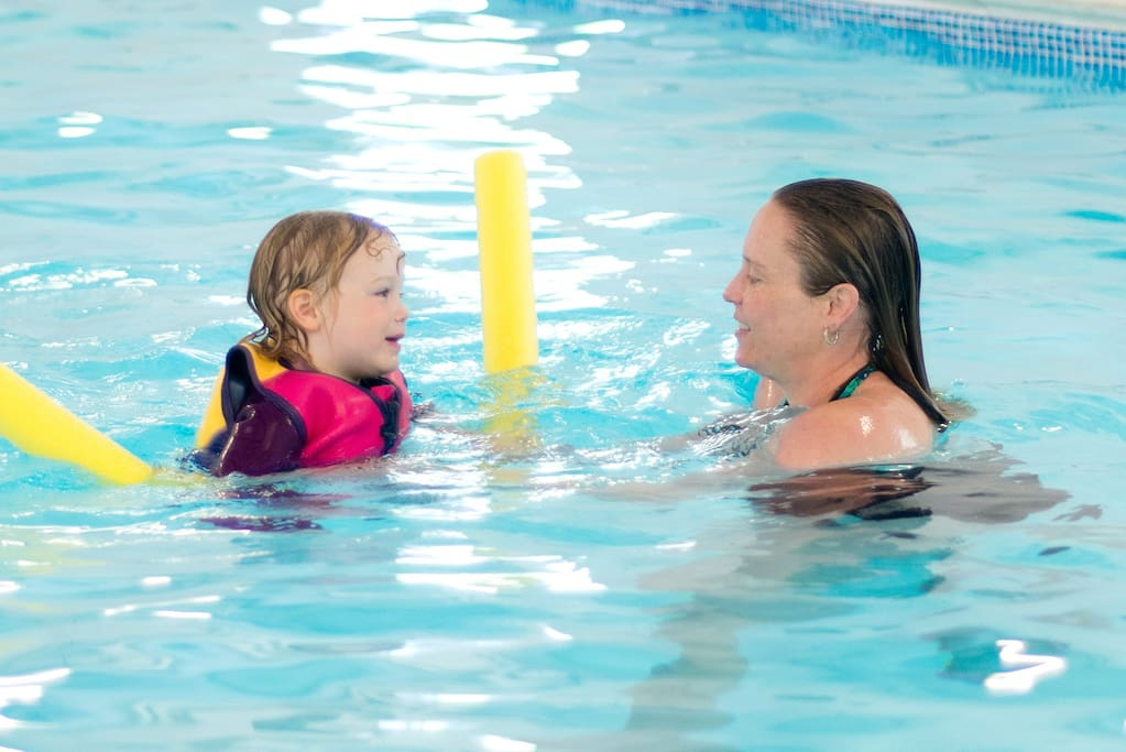 The pool is 1.25m deep throughout- ideal for learning to swim