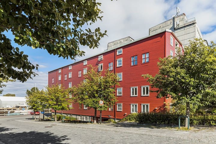 Sjarmerende bryggeleilighet i Trondheim sentrum.