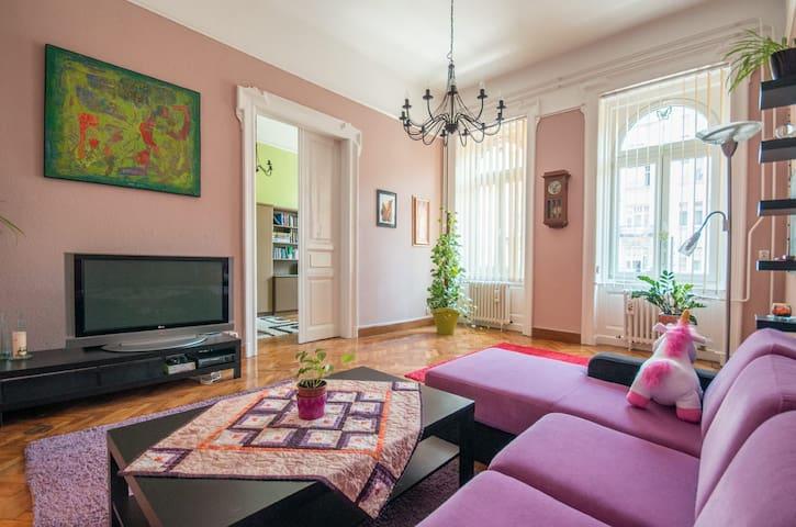 Uniquely designed, spacious Suite in Central BP - Budapest - Leilighet