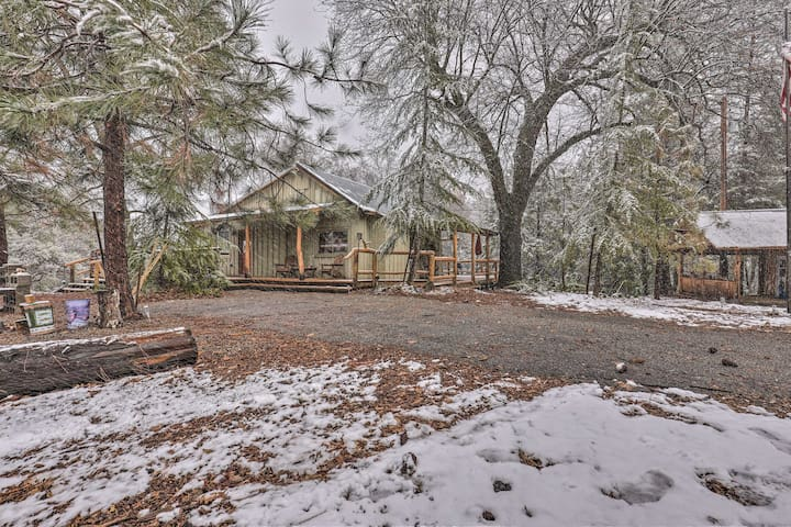 The home is nestled on 5 sprawling acres.