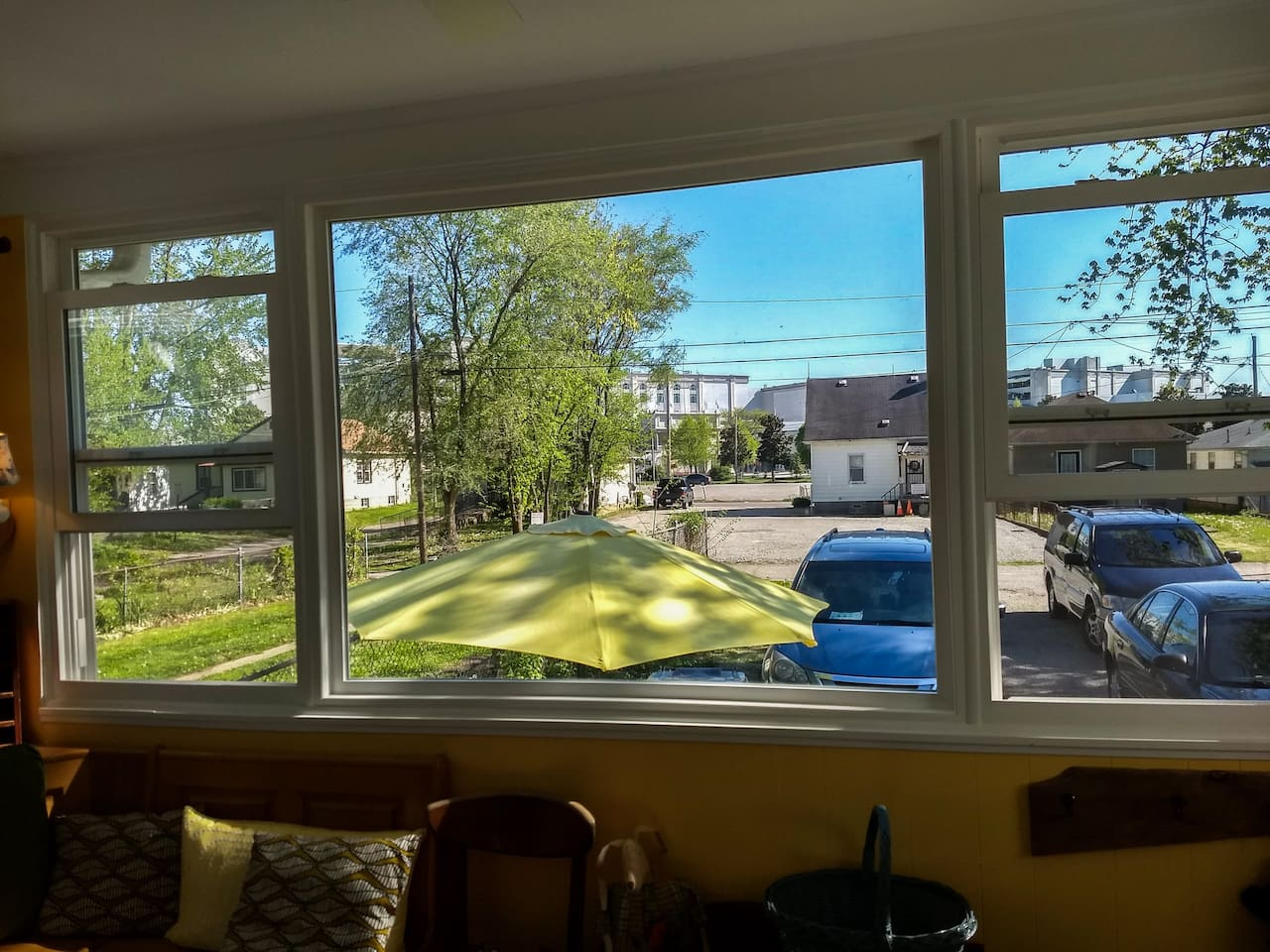 Enjoy the amazing view of Churchill Downs from our cute and relaxing sunroom. That's how close we are!!