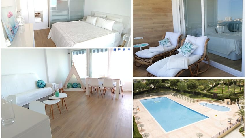 ★LOFT 2Bdr, POOL, Air Con, parking, Alicante beach