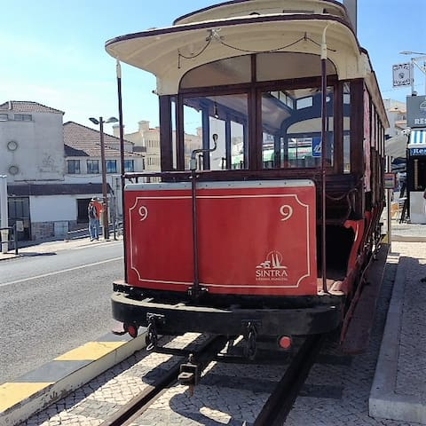 The Sintra tram connects Sintra with the resort town of Praia das Maçãs 13km to the west