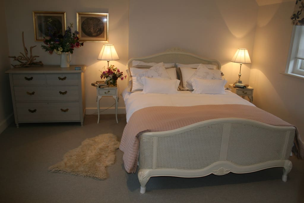 Double Bed with freshly cleaned linen