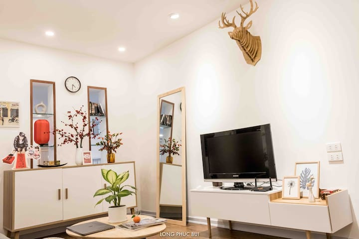 """The apartment was equipped with modern facility blended with the traditional feature of an old """"Tập thể"""" apartment so that you can feel comfortable at the apartment while being surrounded by the local culture."""
