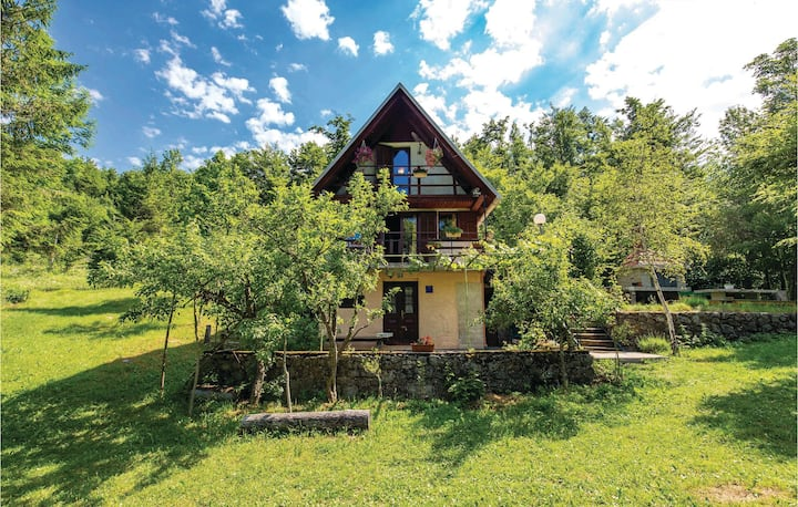 Beautiful home in Zlobin with WiFi and 1 Bedrooms