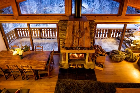 Spacious renovated Savoyard barn. - Ste Foy Tarentaise  - Haus