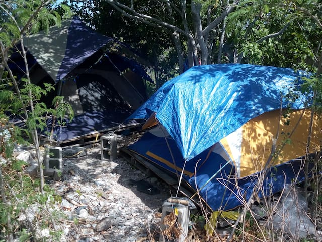 Campsite in safe undeveloped area of Great Inagua