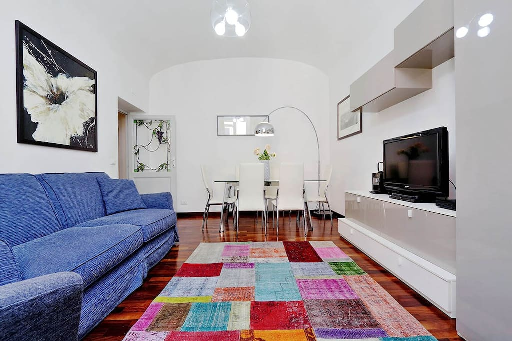 One bedroom holiday apartment near Saint Peter's Square and Vatican museums - Living room