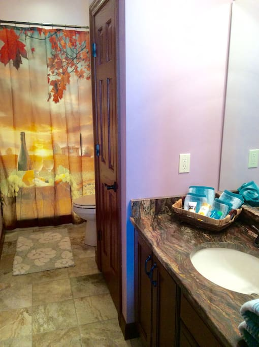 En suite bathroom gives you privacy during your stay!
