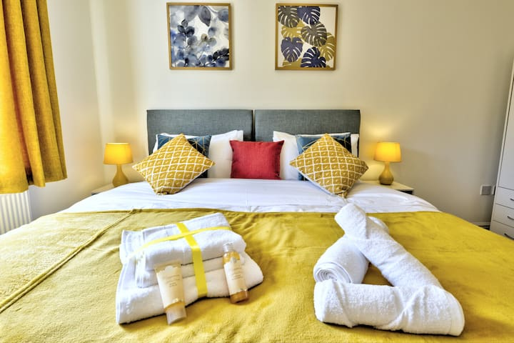 Concorde Apartment - FREE Parking - SuperKing beds