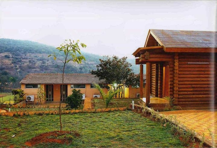 1 RK Wooden Cottage With Swimming Pool