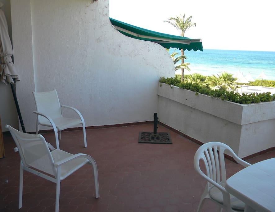 terrasse 1 en fin de journée