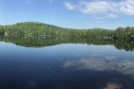 Cozy Maine Cottage w/ Private Pond Beach! - Hiram - Kabin
