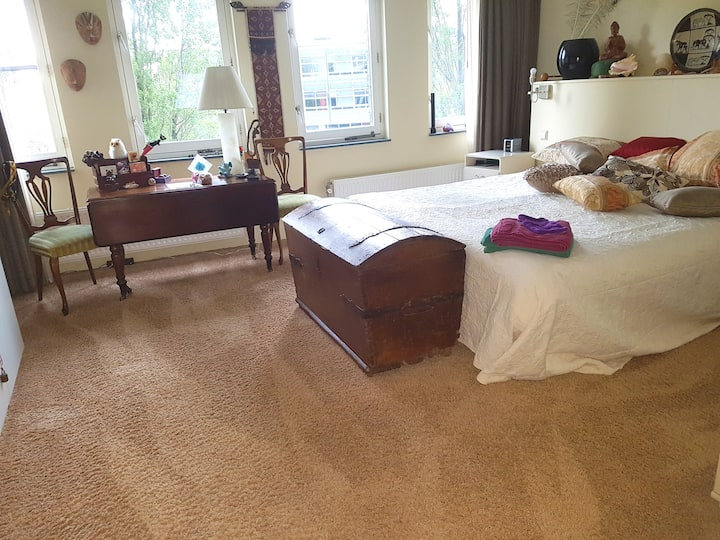Spacious modern bedroom w antique elements+parking