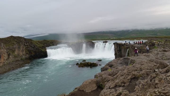 Bedroom for two. A. close Goðafoss.