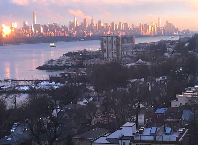 Manhattan Skyline - Fort Lee - Kondominium