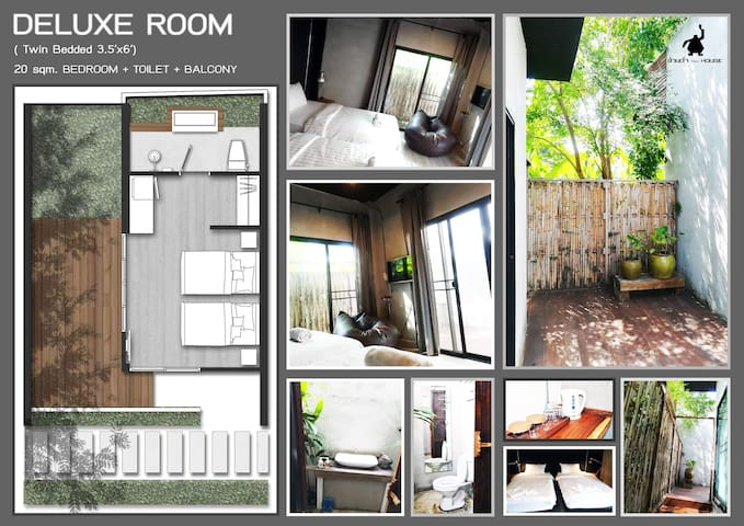 Ouandam Tiny House (Deluxe Room - Double beds)