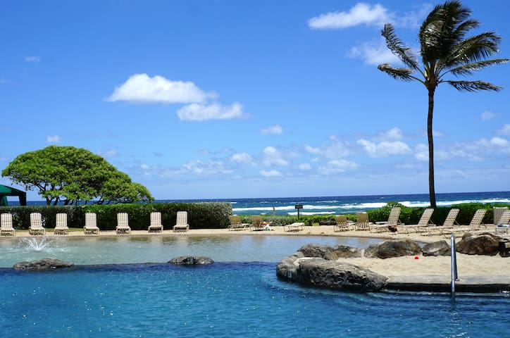4* RESORT- Steps to Beach, Pools, Spas. Free WiFi! - Lihue