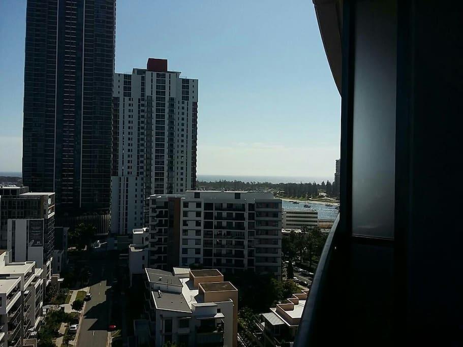 Ocean views across Southport