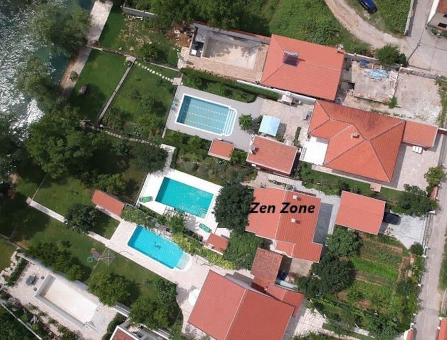 Zen Zone aerial view