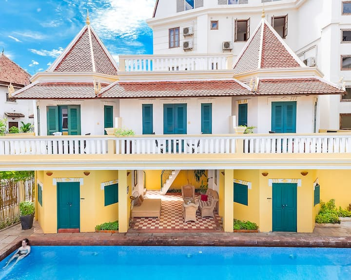 Monthly Stay at Private Double Room Pool view