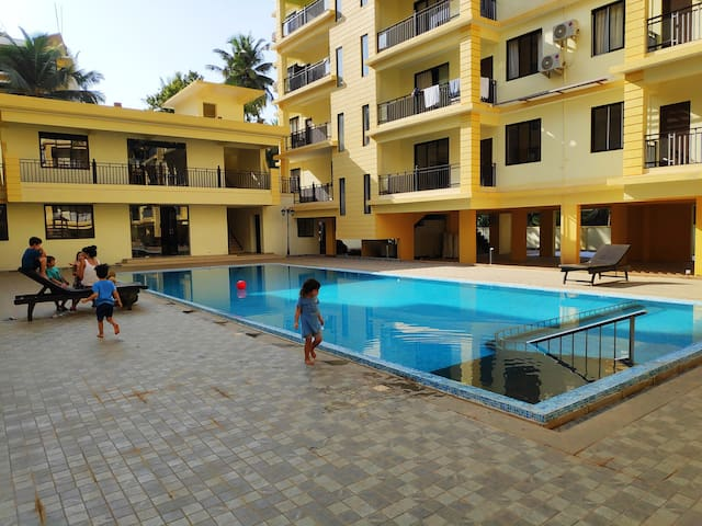2BHK Serviced Apartment with Pool in Goa