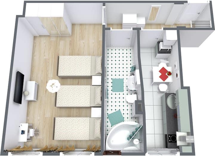 Gemütliche Einzimmerwohnung (30)/Spandau