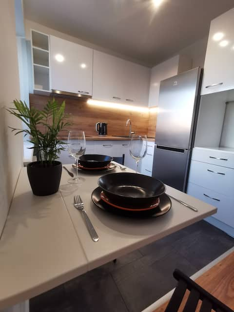 Ventspils studio apartment with lovely balcony
