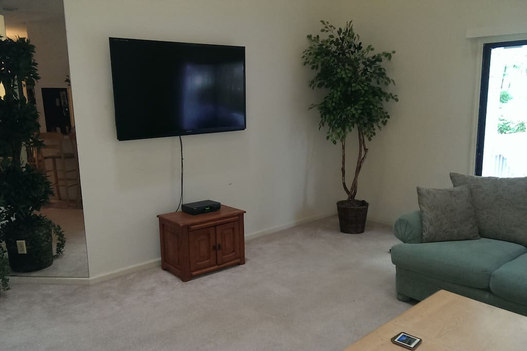 """60"""" Smart TV with 150+ channels, wifi 300/30 Mbps & free Netflix."""